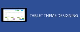 Tablet theme design